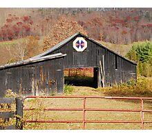 Kentucky Barn Quilt - Octagon Variation  Photographic Print