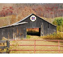 Kentucky Barn Quilt - Octagon Variation  Photographic Print