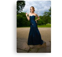 Girl in Blue Dress Canvas Print