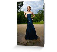 Girl in Blue Dress Greeting Card