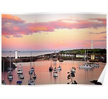 Wollongong Harbour at Sunset Poster