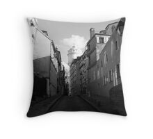 Backstreets of Montmartre Throw Pillow