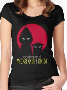 The Adventures of Mordecai & Rigby Women's Fitted Scoop T-Shirt