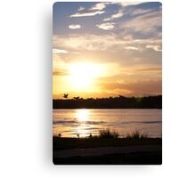 I'll be your sunset if you'll be my silhouette Canvas Print