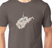 West Virginia Vintage Picture Map Unisex T-Shirt