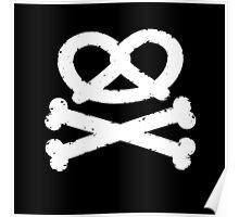Pretzel Skull and Crossbones Poster