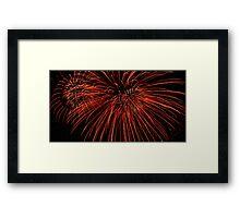 Red Fireworks Framed Print