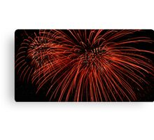 Red Fireworks Canvas Print