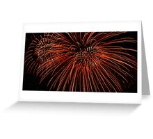 Red Fireworks Greeting Card