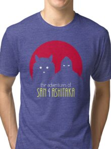 The Adventures of San & Ashitaka Tri-blend T-Shirt
