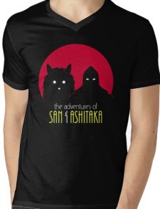 The Adventures of San & Ashitaka Mens V-Neck T-Shirt