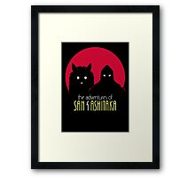 The Adventures of San & Ashitaka Framed Print