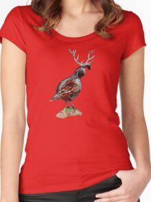 Antlered Quail Women's Fitted Scoop T-Shirt