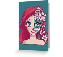 Sugar Skull Series: Underwater Princess Greeting Card