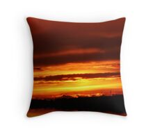 Sunset after summer storms... Throw Pillow