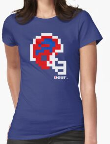 Tecmo Bowl - Buffalo - 8-bit - Mini Helmet shirt (see Artist's notes!) Womens Fitted T-Shirt