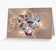 Purple Metallica Greeting Card