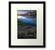 Shoreline Peek Framed Print
