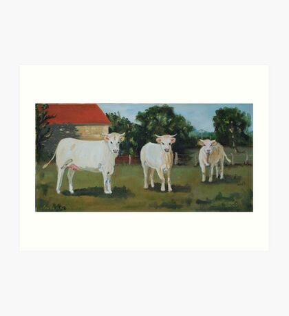 Les Vaches Art Print