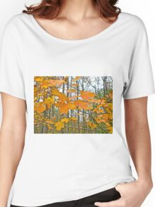 Maple Tree Autumn Foliage Women's Relaxed Fit T-Shirt