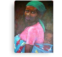 Colourful Cape Town Motherhood Canvas Print