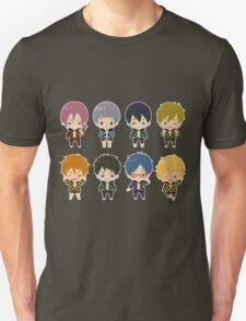 Free! Polkadot Group Chibi Unisex T-Shirt