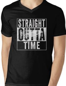 Straight Outta Time Back to the Future  Mens V-Neck T-Shirt