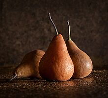 Three Ageing Pears by Janet Rogerson