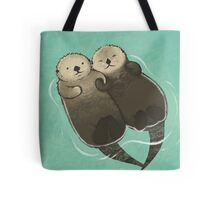 Significant Otters - Otters Holding Hands Tote Bag