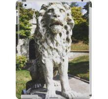 Lion guarding mausoleum in Green-Wood Cemetery iPad Case/Skin