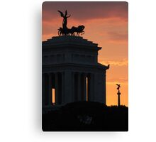 Sunset at Monumento Nazionale a Vittorio Emanuele II  Canvas Print