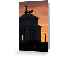 Sunset at Monumento Nazionale a Vittorio Emanuele II  Greeting Card