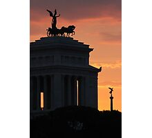 Sunset at Monumento Nazionale a Vittorio Emanuele II  Photographic Print