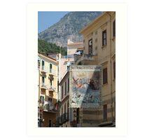 Streets of Amalifi Art Print