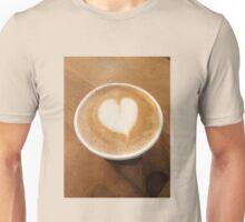 Pumpkin Spice Latte Coffee Art Unisex T-Shirt