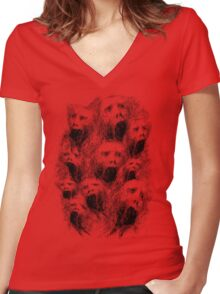 Screams of the Damned Women's Fitted V-Neck T-Shirt