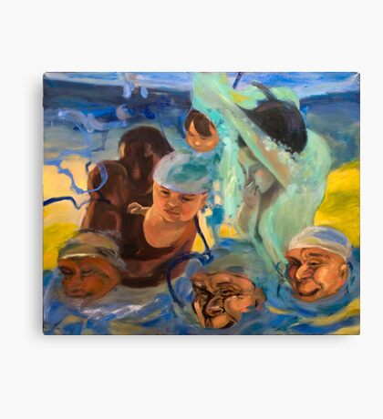 Swimming lesson 4 Canvas Print