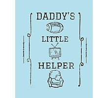 Daddy's Little Helper Photographic Print