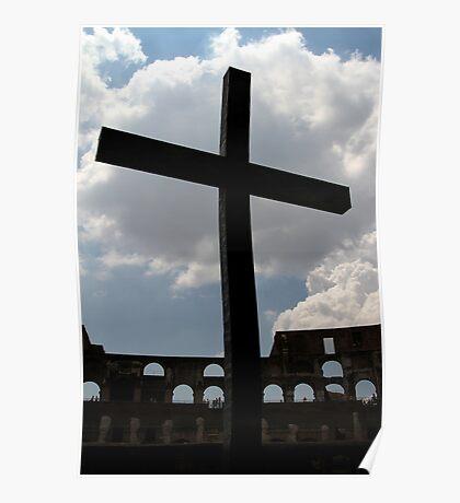 Colosseum Cross Poster