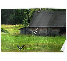 Stork is farmstead friend Poster