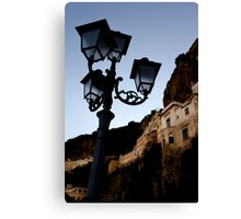 Amalfi Coast Street Light Canvas Print