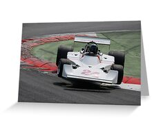 Airborne at Monza Greeting Card