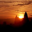Sunrise over Angkor Wat, Cambodia. by John Mitchell