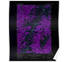 USGS Topo Map Idaho He Devil 239104 1957 62500 Inverted Poster