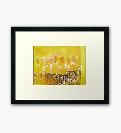 Childhood series - children singing - Kid's choir Framed Print