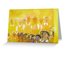 Childhood series - children singing - Kid's choir Greeting Card