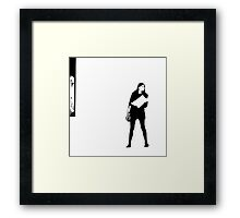Waiting to Cross Over.. Framed Print