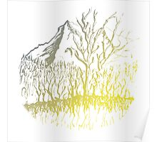 Mystical Glow on Mountain Valley Trees Poster