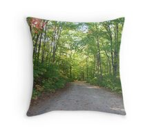 Path in the Woods - Muskoka Throw Pillow