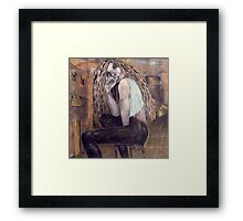Alice in a Troubled Land Framed Print
